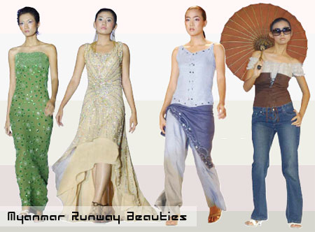 Myanmar Runway Beauties