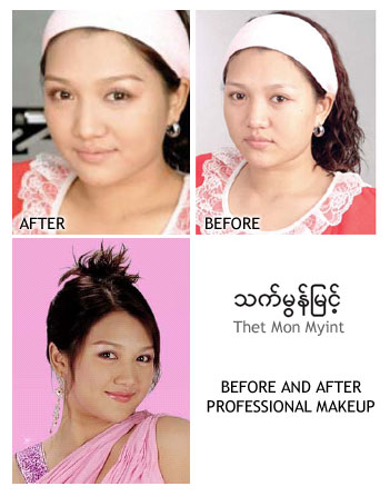 Thet Mon Myint - Before and After Professional Make up