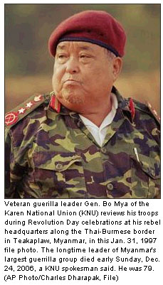 Karen rebel leader Bo Mya dies at 79