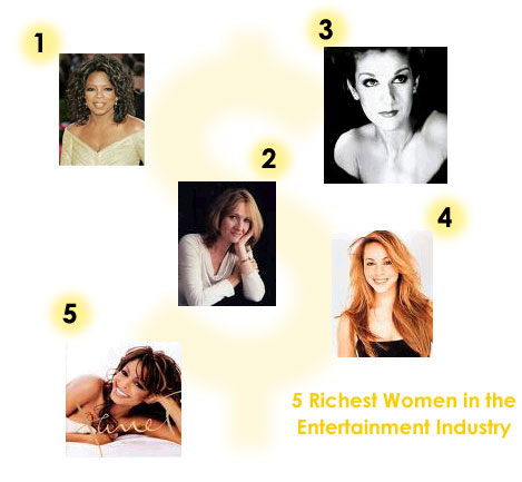 5 richest women in the entertainment industry