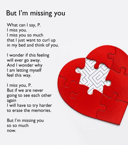 But I'm missing you