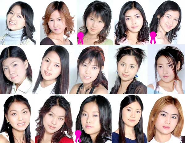 The Korean Stars Look-alike Photo Contest - Female Contestants