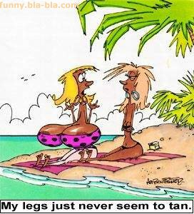 Funny Cartoon: Tan