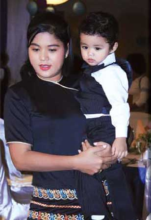 Myat Thaw Maung turned two