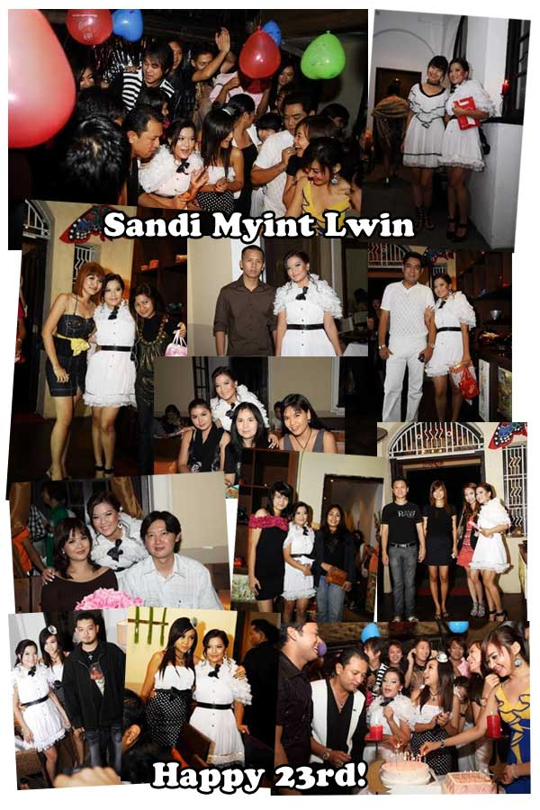 Sandi Myint Lwin's birthday party