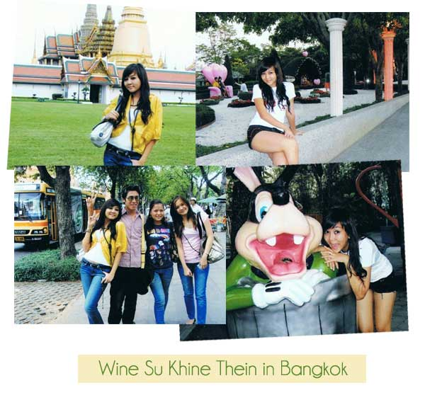 Wine Su Khine Thein in Bangkok