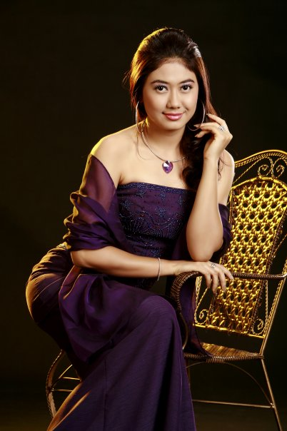Thinzar Wint Kyaw in Purple