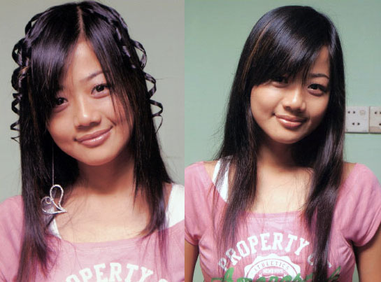 Which hairstyle suits Myanmar actress Pa Pa Win Khin better?
