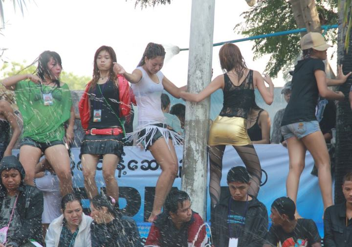 Possibly the Hottest Photos from Myanmar Thingyan 2012. And by hottest ...