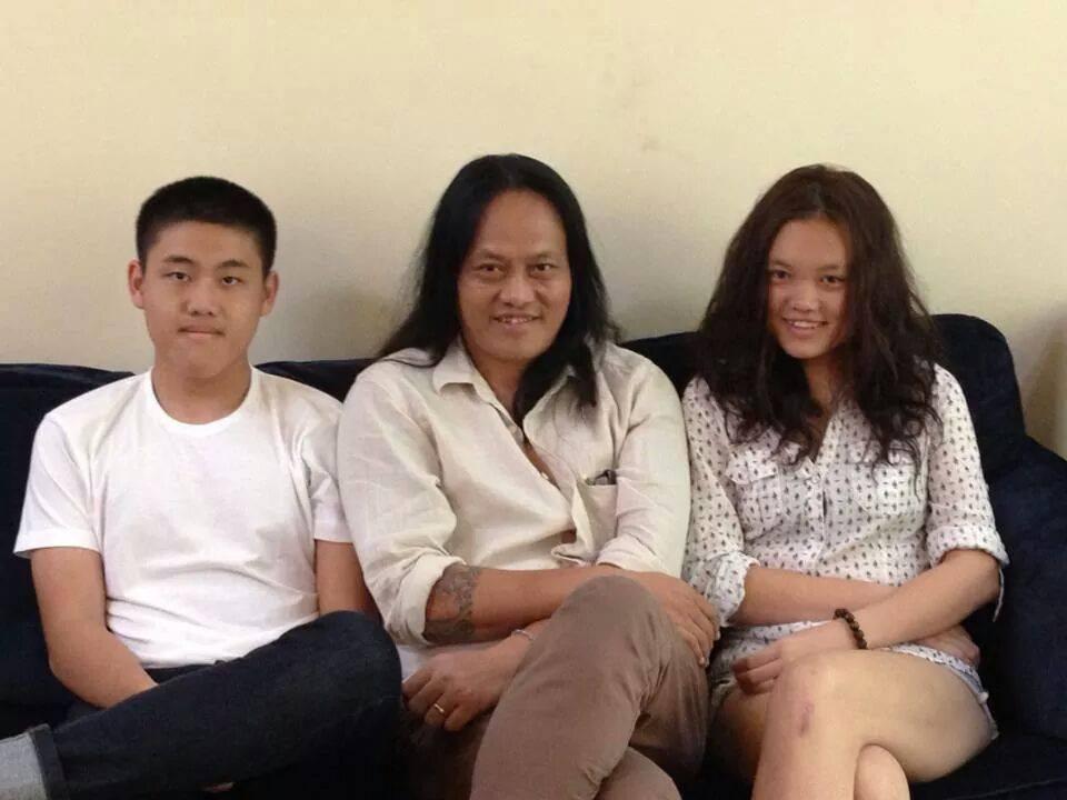 Lay Phyu, his son & Daughter - All Things Myanmar Burmese